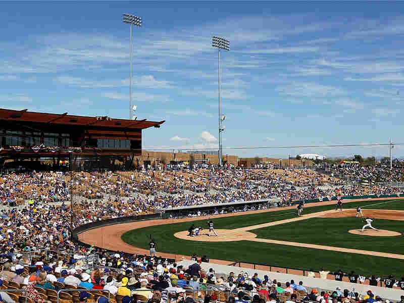 A spring training game between the Chicago White Sox and Los Angeles Dodgers