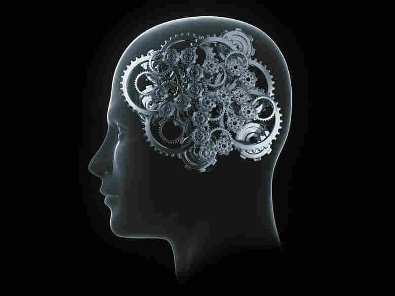An artist's rendering of cogs in a human brain.
