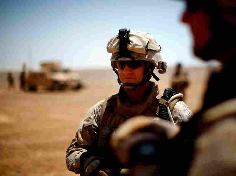 Marine Sgt. Maj. Robert Breeden at Camp Leatherneck in Afghanistan on June 12, 2009.