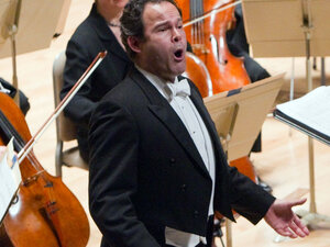 """Baritone Gerald Finley sings the world premiere of Peter Lieberson's """"Songs of Love and Sorrow."""""""