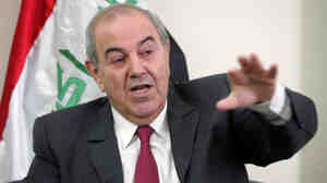 Former Iraqi Prime Minister Ayad Allawi