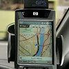 GPS on dashboard of car