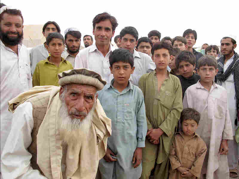 Pakistani refugees displaced by the violence are living in a camp outside Peshawar.