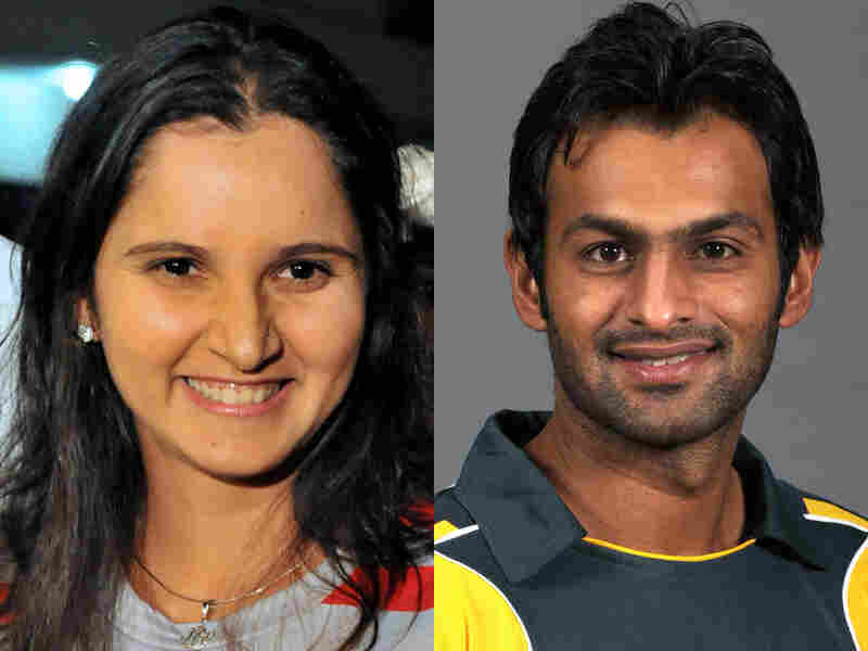 Indian tennis player Sania Mirza and Pakistani cricketer Shoaib Malik
