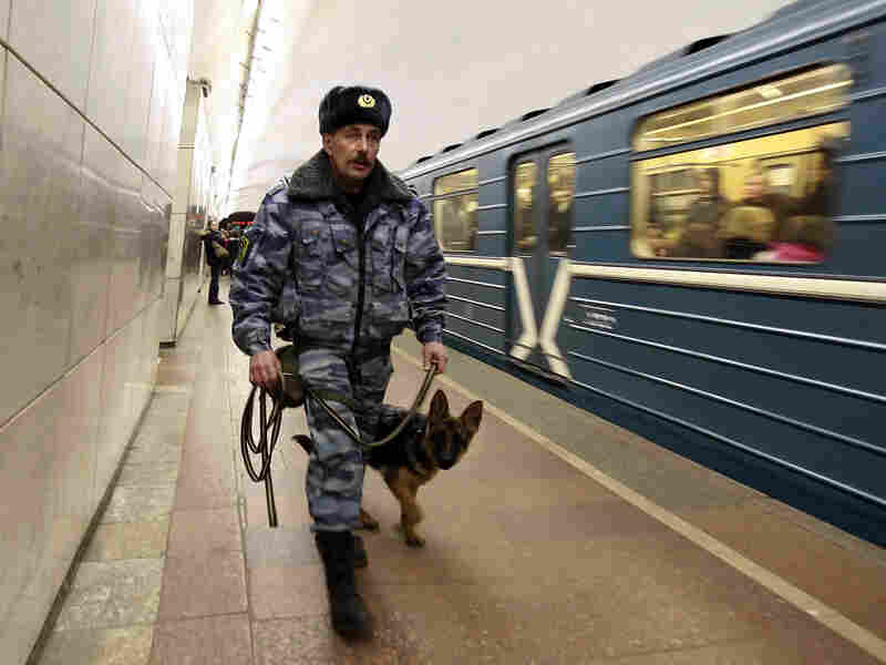 A Russian police officer