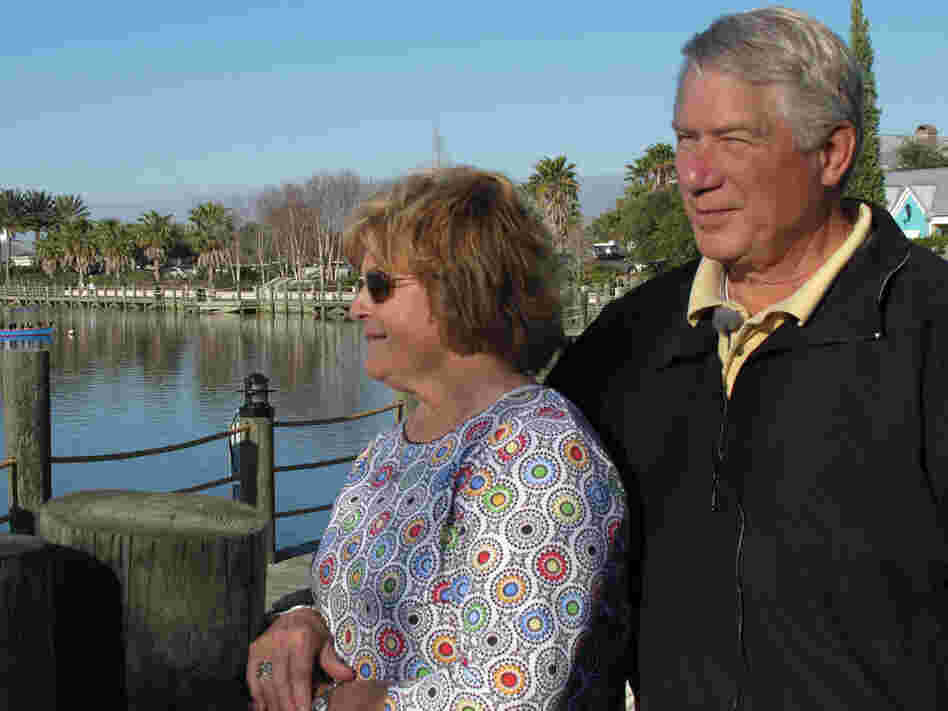 Don Hahnfeldt, the head of The Villages Homeowners Association, stands with his wife Cheryl.