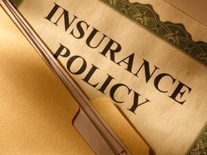 Stock image of an insurance policy