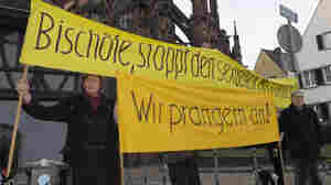 Protesters in Freiburg, Germany