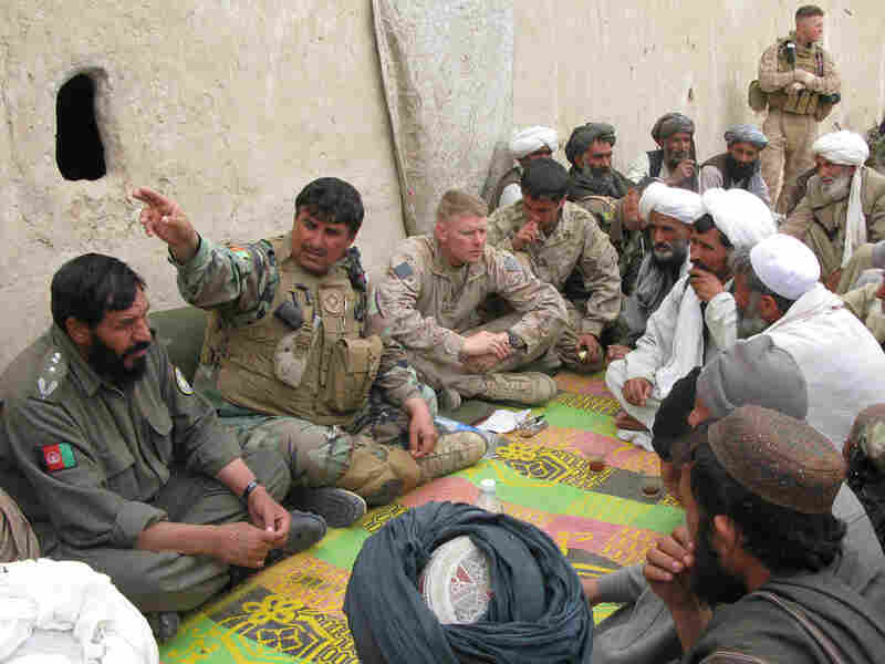 Marines and farmers in Afghanistan