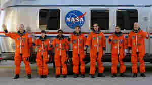 The crew of the space shuttle Discovery is set to launch Monday morning.