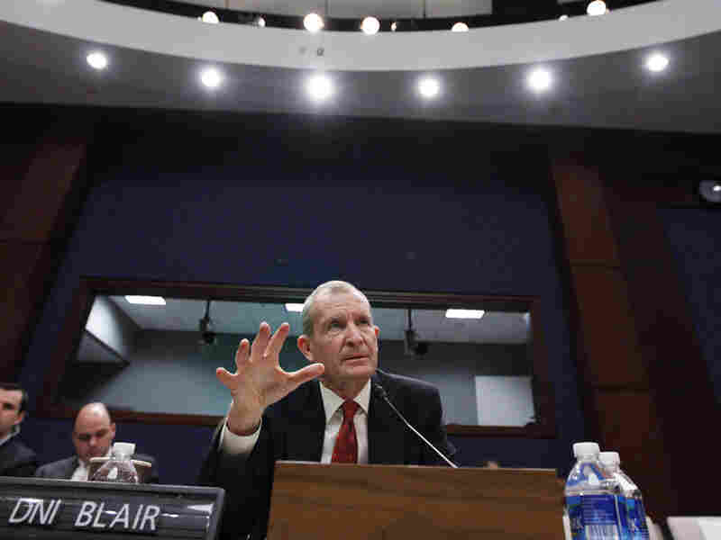 Director of National Intelligence Dennis Blair testifies before the House Intelligence Committee.