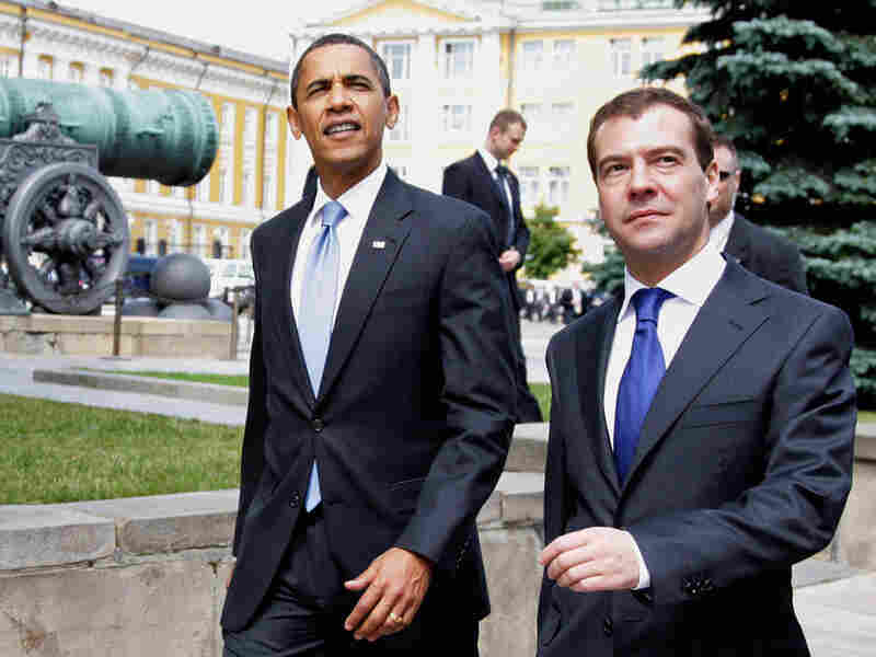President Obama and Russian President Dmitry Medvedev