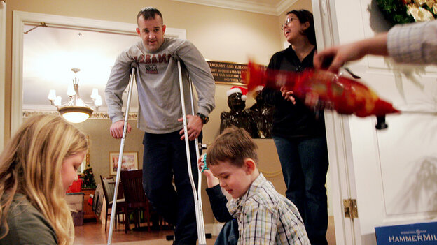 Don Oakes, who is being treated for an injury incurred in Iraq, is staying at a Fisher House