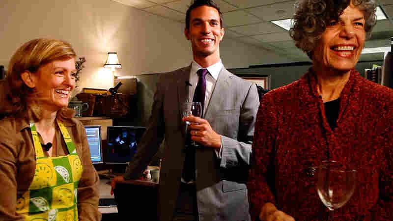 Tiny Desk Kitchen host Allison Aubrey and taste testers Ari Shapiro and Susan Stamberg.