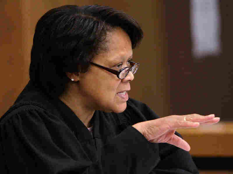 Cuyahoga County Common Pleas Judge Shirley Strickland Saffold presides over a hearing