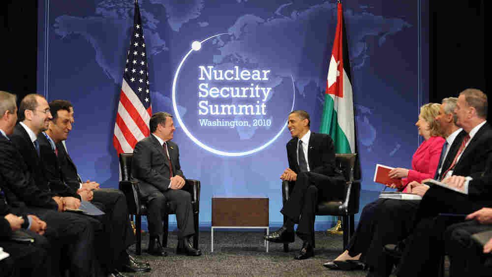 President Obama meets with King Abdullah II of Jordan on Day One of the Nuclear Security Summit.