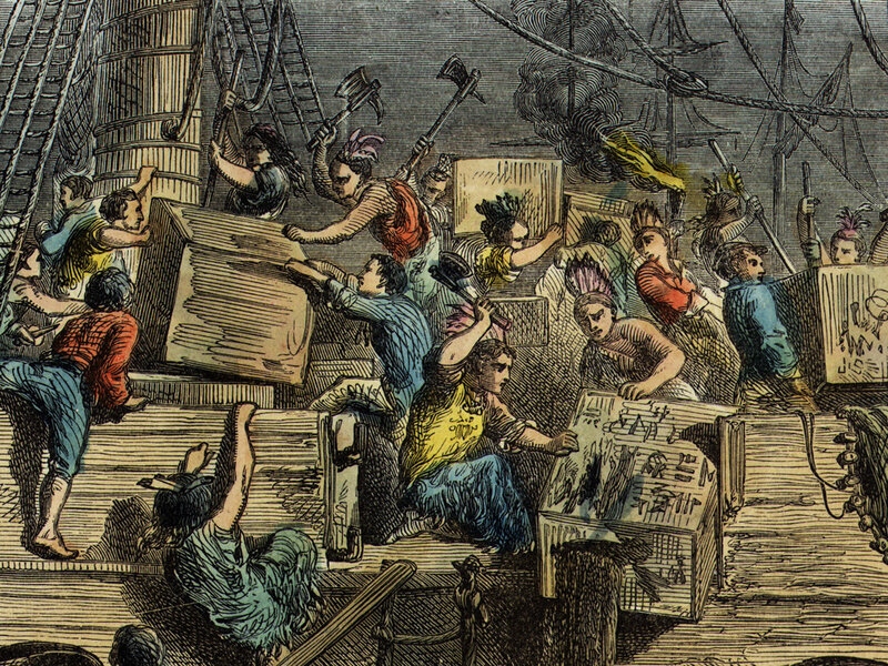 Image result for During the Boston Tea Party, 342 chests of tea were thrown into the harbor.