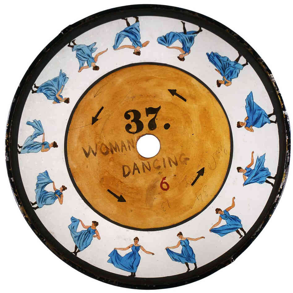 Glass zoopraxiscope disc