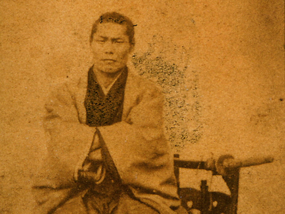 The Shinsengumi, the elite, young swordsmen of Japan's last shogun, are popular among Japan's history girls. Here is an 1868 picture of a commander of the Shinsengumi.
