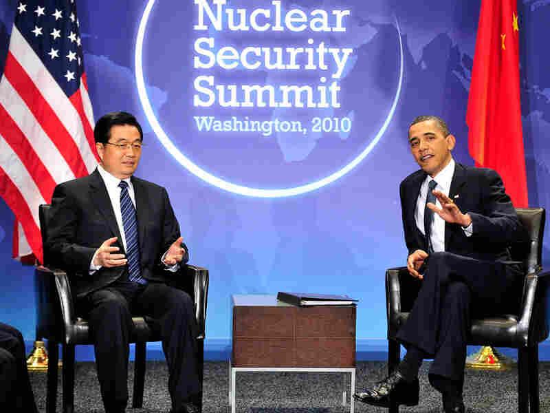 Chinese President Hu and President Obama