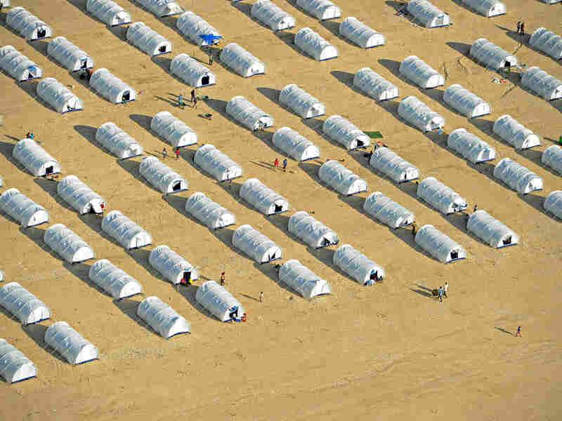 An aerial view of the Corail-Cesselesse camp