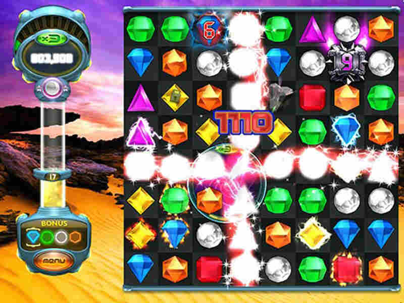 """This photo shows a scene from """"Bejeweled Twist,"""" a version of the popular online game."""