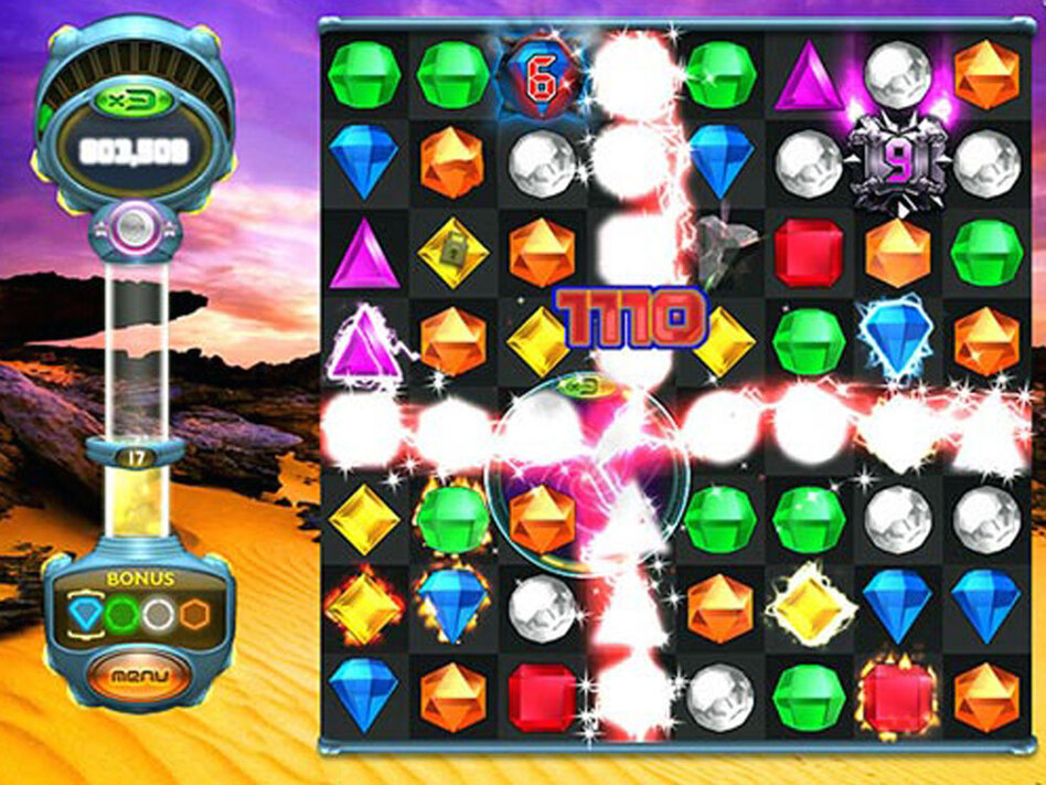 "A scene from ""Bejeweled Twist,"" a version of the popular online grid game that's popular among women -- who represent a growing demographic among online game players."