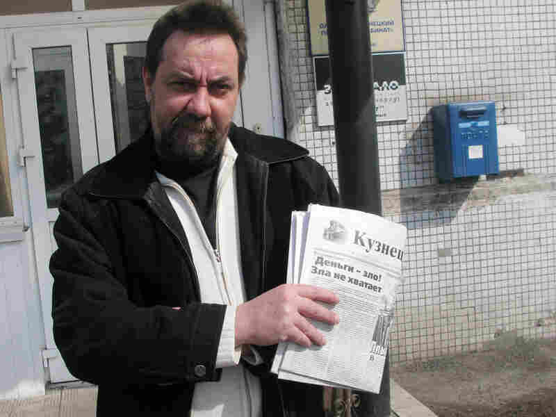Vadim Rechitsky, 42, is editor in chief of an independent newspaper