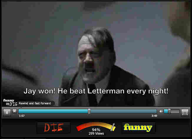 Hitler parodies are appearing on other sites.