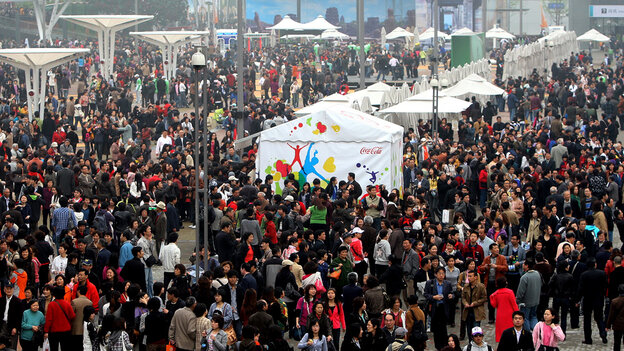 Visitors at the Shanghai World Expo, April 20