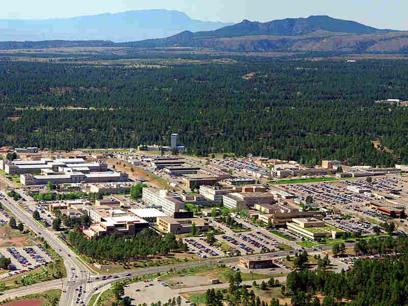 Aerial shot of Los Alamos National Laboratory in New Mexico, 1995