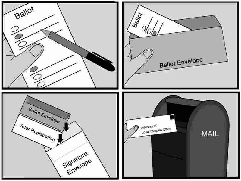 Minnesota absentee voter handout.