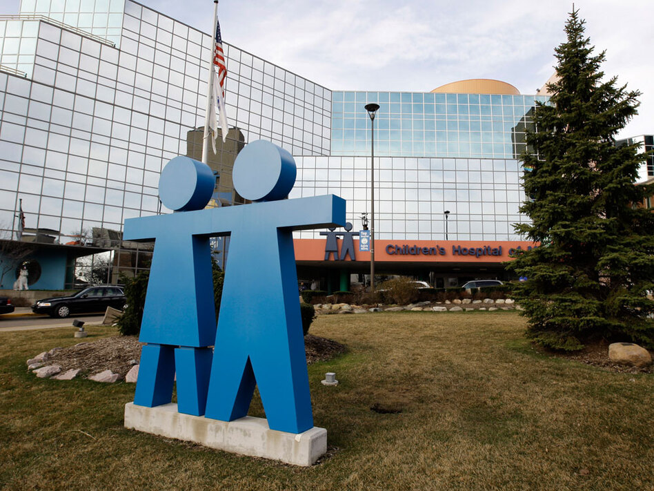 Children's Hospital of Michigan at the Detroit Medical Center would get a new tower if the $850 million deal goes through.