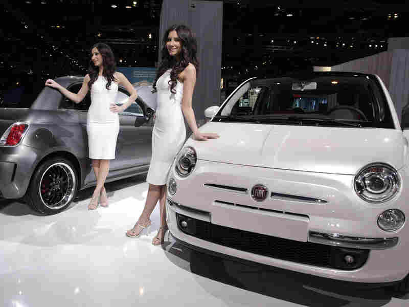 The Fiat 500 is seen on display at the 2010 Chicago Auto Show in February.