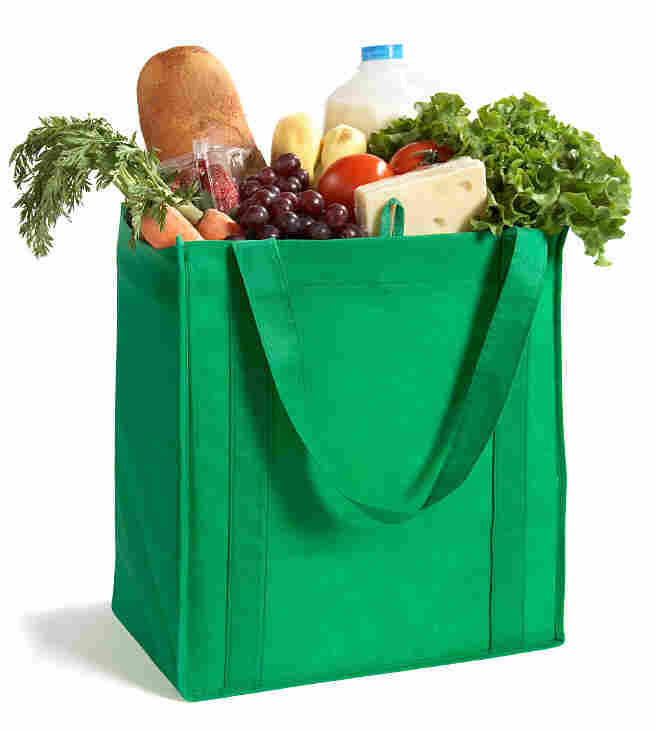 A bag of groceries