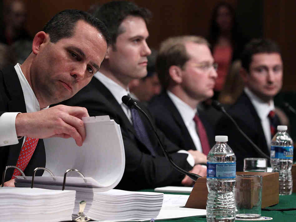 Current and former Goldman Sachs executives testify before a Senate subcommittee
