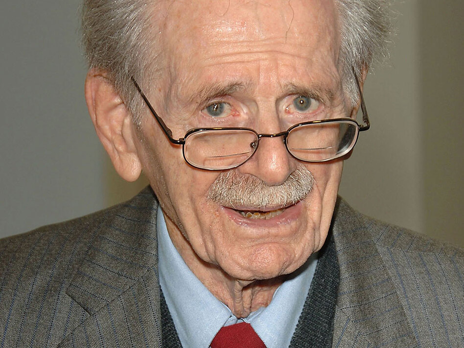 Radio legend and poet laureate Norman Corwin, pictured here in 2006, turned 100 on Monday.