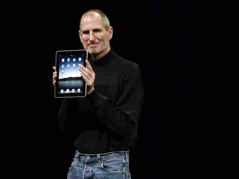 Apple CEO Steve Jobs announces the new iPad in January.