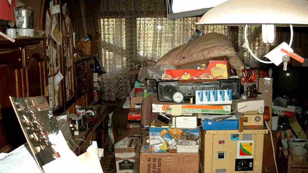 Compulsive hoarder's apartment.