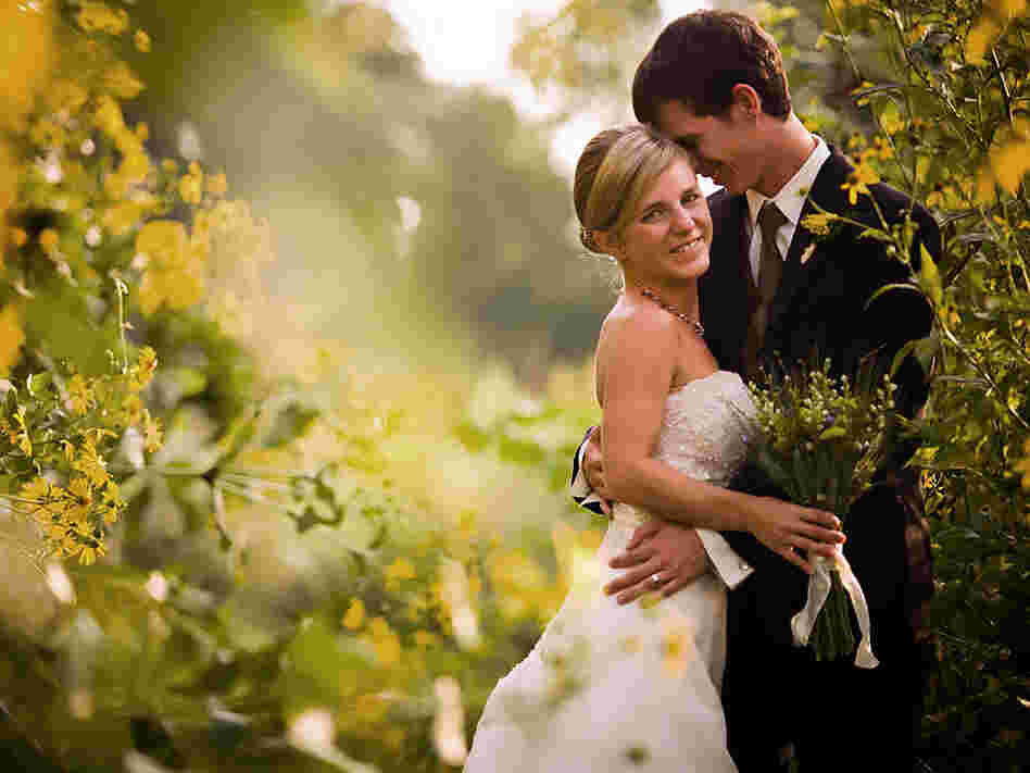 Brianne and Nathan on their wedding day in September 2009. Courtesy of Under Grace Photo