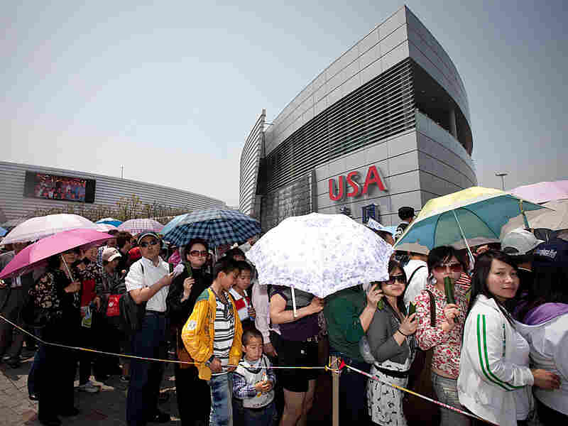 Visitors to Shanghai's World Expo