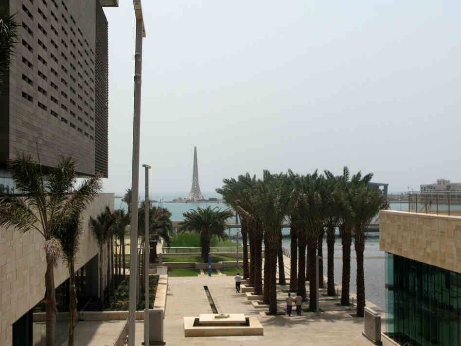 A view from KAUST of the Red Sea