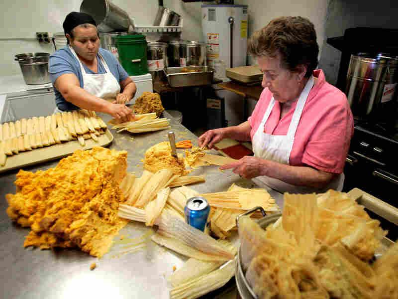 Maria Villareal makes tamales two years ago
