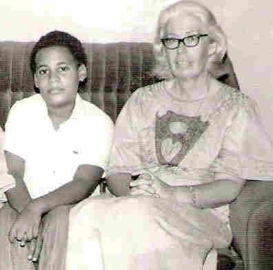 Chris Abani with his mother, Daphne Mae Hunt