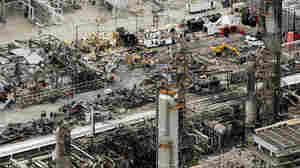 A view of the wreckage at the BP facility in Texas City.