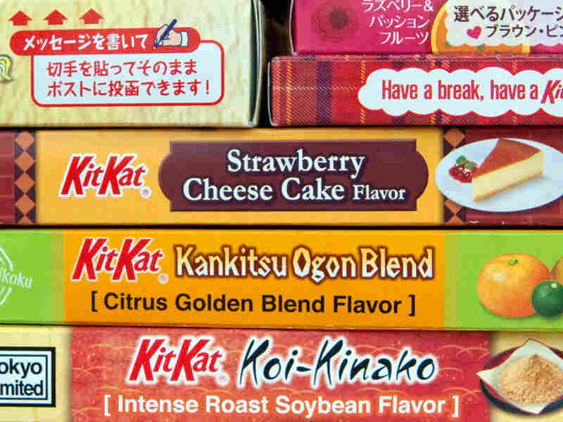 Cheesecake-flavored Kit Kat