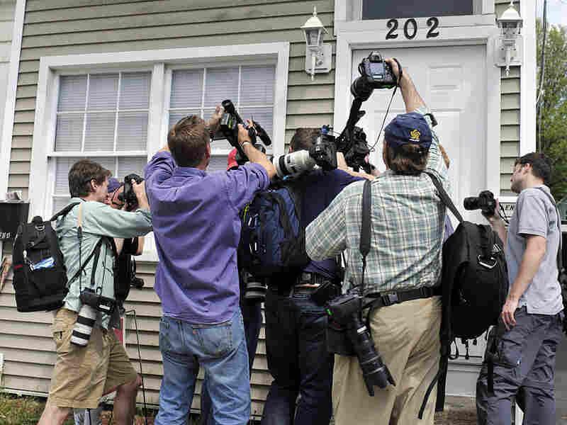 Members of the media photograph Faisal Shahzad's mailbox