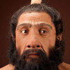 Re-creation of a Neanderthal by paleo-artist John Gurche