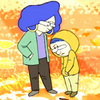 Still from animated video of Joshua Littman, a 12-year-old with Asperger's, talking with his mother