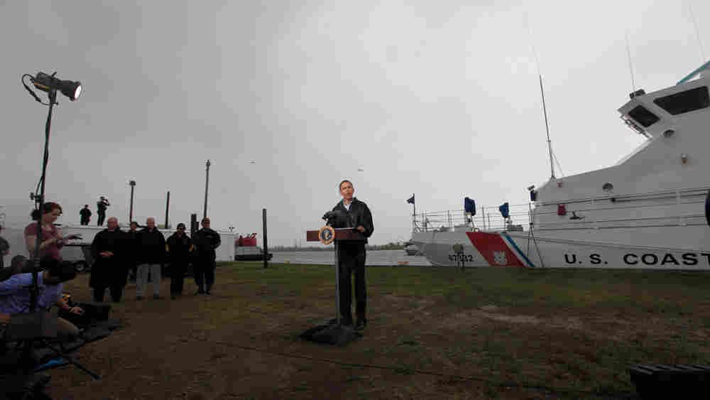 President Obama speaks in Venice, La.